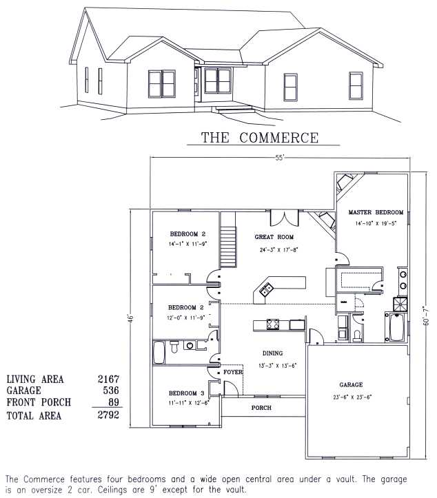 A-Frame Style House Floor Plans with A-Frame Home Plan Design