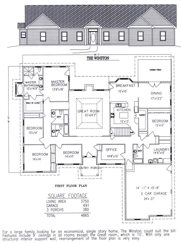 House plans on pinterest house plans floor plans and House plans usa
